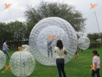 Children's activities with the zorbing
