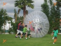 Children have a great time with the Zorb ball