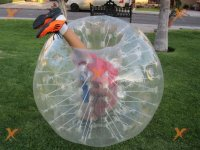 Zorb ball with person inside