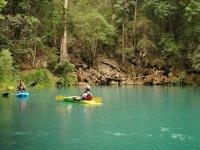 Kayaking laps
