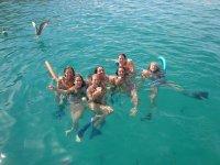 snorkel en la playa