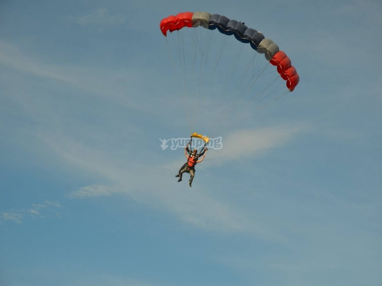Jump on a parachute and enjoy the adventure