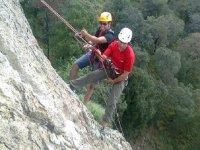 Rappel in mountain