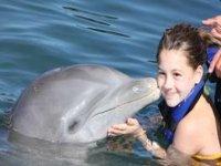 Beso de un mamífero marino