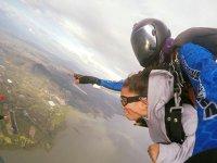 Saltando en Chapala con la mejor vista