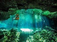 Snorkel in deep cenote
