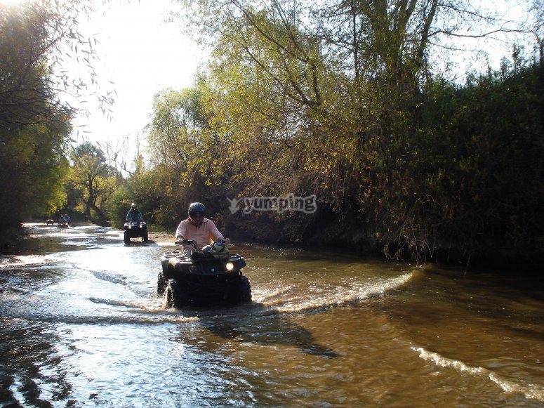 Cross the river at ATV
