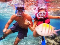 snorkeling as a couple