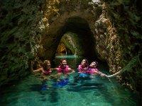 Underground river in Xcaret