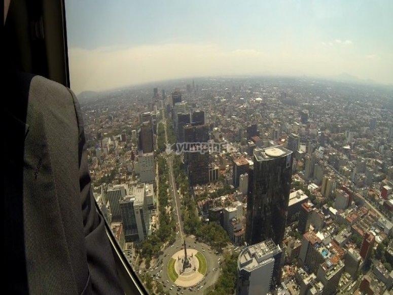 vistas de DF desde el cielo