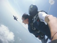 Parachute jump with photos