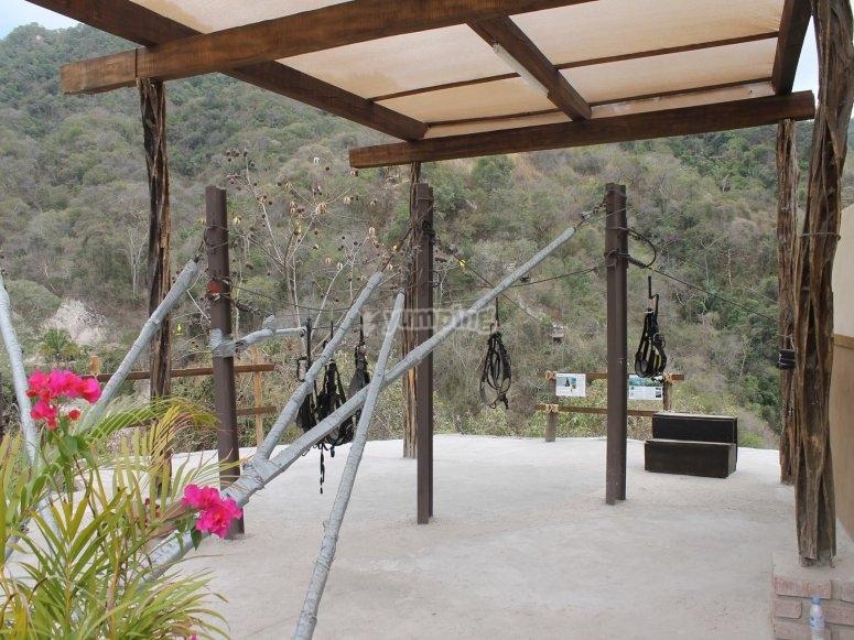 The treetop adventure park