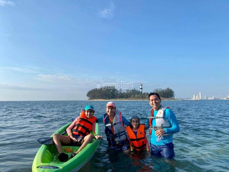 Family kayaks