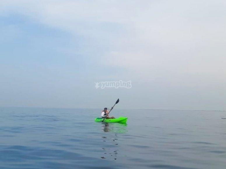 Offshore kayaking