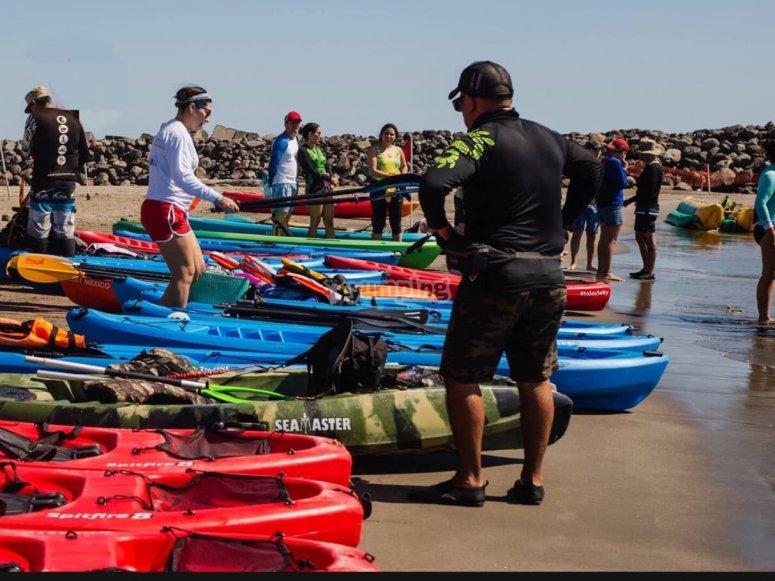 Asignando kayaks