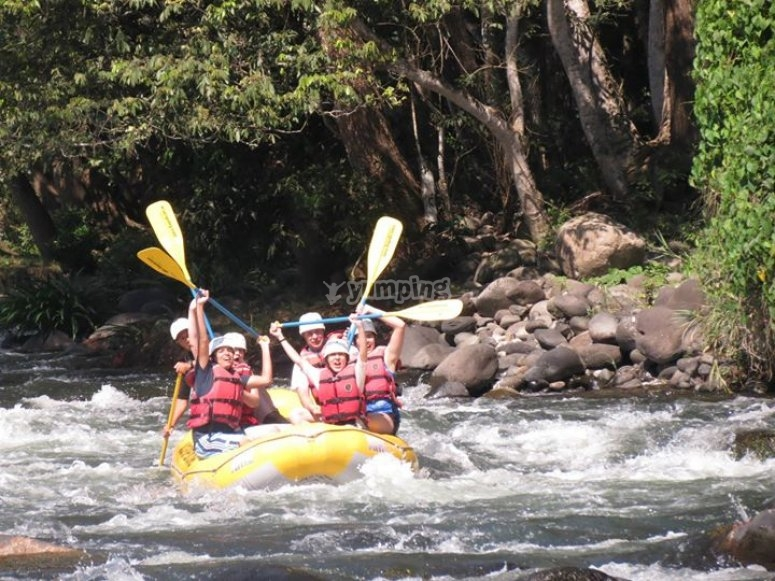 maravilloso clima para rafting