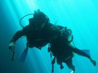 Scuba diving excursion to a natural well