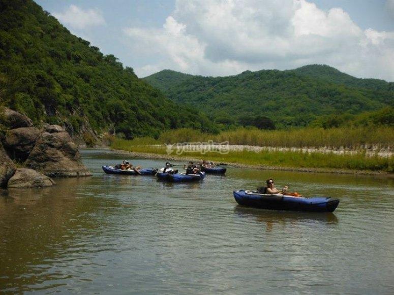 Rutas en río