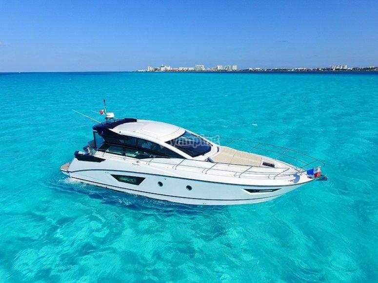 Mar caribe en yate