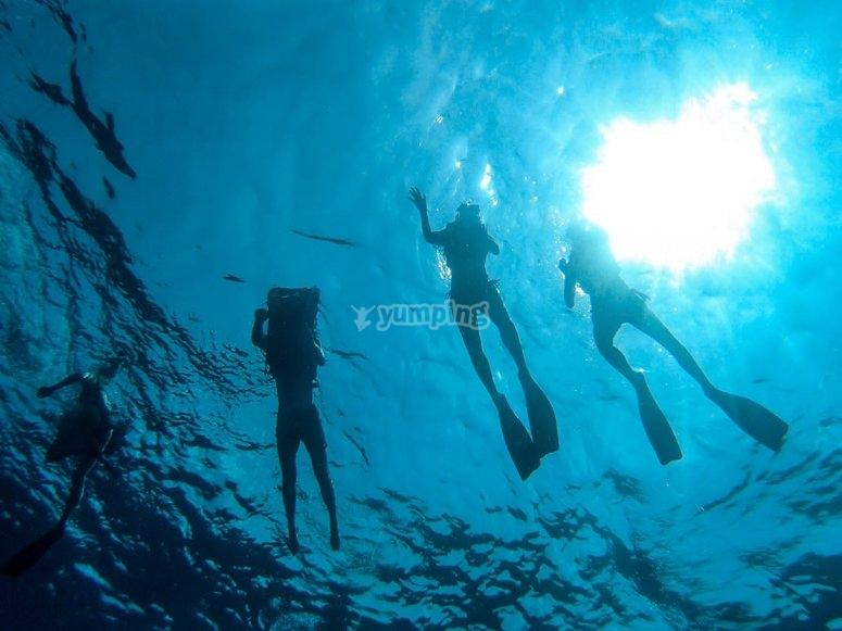 Snorkeling en la isla