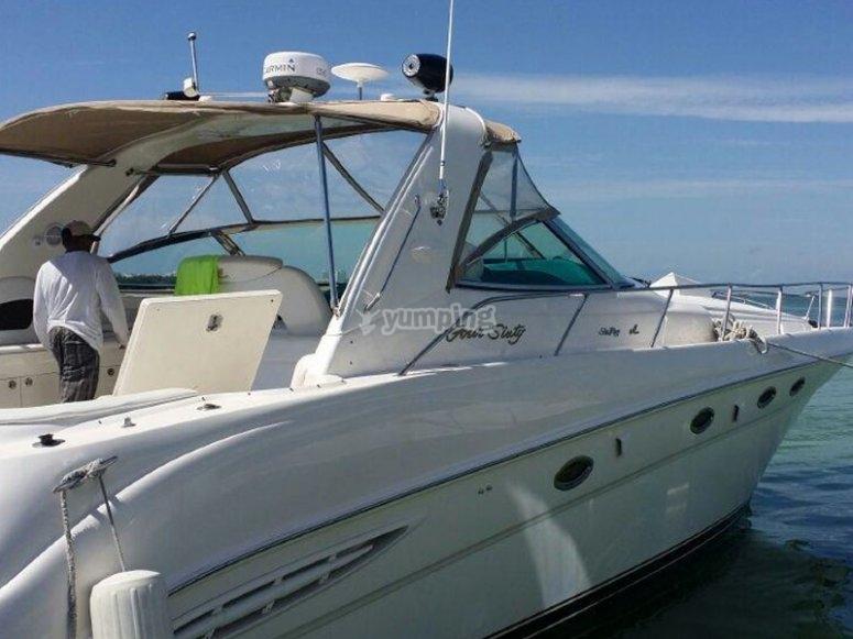 Yacht trip through the Caribbean