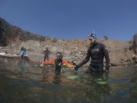 Pope and son in snorkeling