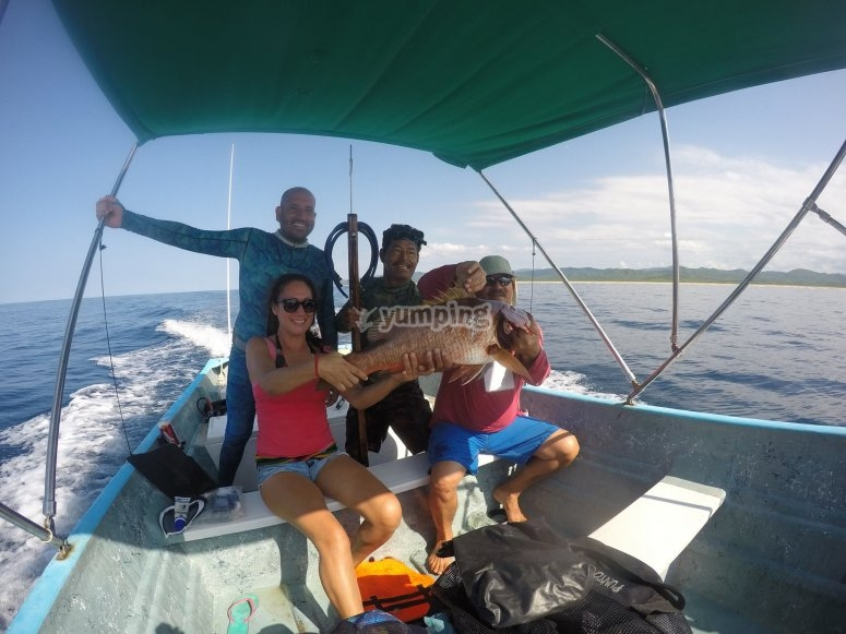 Pesca deportiva en familia
