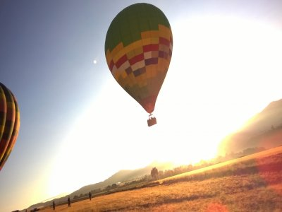 Balloon flight with guided tour over Huasca
