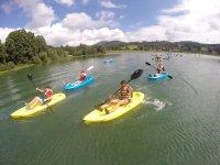 Actividad de kayaks