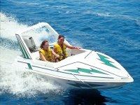 Enjoying boat