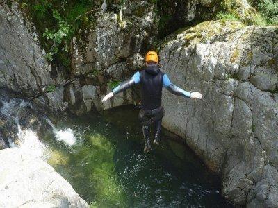 Canyoning trip in el Azul, Guadalajara
