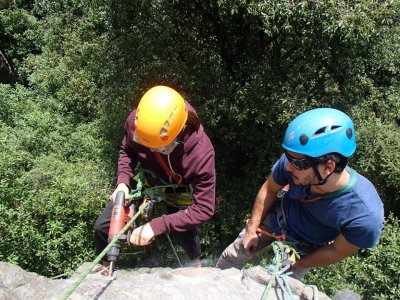 Spelunking trip and rappeling in Toxín 6h