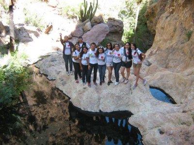 Walking tour to Nacapule Canyon