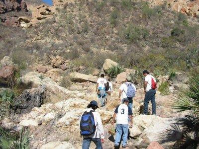 Caminata extrema en el Cañón de La Posa