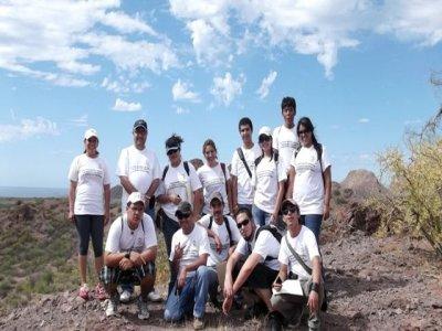 Family hiking at Tortuga