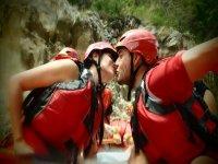 Amor y rafting