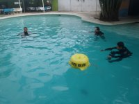 Training in swimming pools