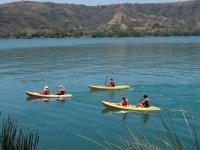 Together enjoying the kayaks