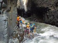 Canyoning in Garganta de la Iguana