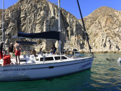 Private 42 ft. boat trip in Los Cabos.