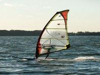 Lake windsurfing