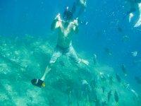 Snorkel bajo el agua