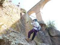 Rappel in the arches