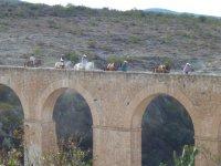 horseback riding in the aqueduct