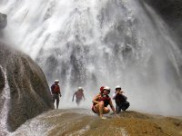 Walking between waterfalls