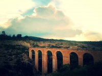 The arches at sunset
