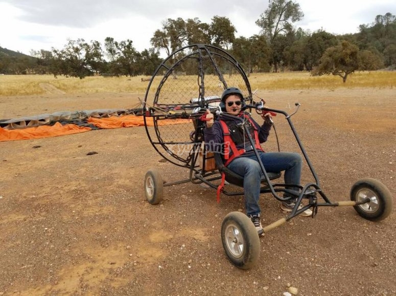 In the paramotor