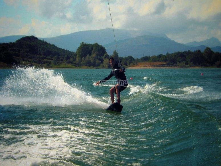 Waterskiing at Valle de Bravo