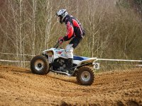 ATV by flat road