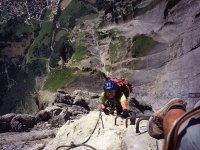 Making the ferrata with a helmet